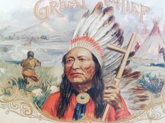 Advertising sign tin: great chief