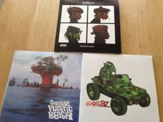 "Lot of 3 Albums ( 6 Lp's) -  Gorillaz  -"" Demon Days"" - Limited Edition 2005 /"" Gorillaz"" / "" Plastic Beach """