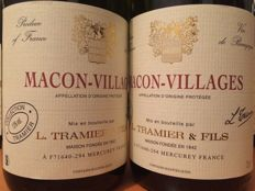2016 Macon-Villages (white wine from Burgundy) - Maison L.Tramier & Fils - 12 bottles