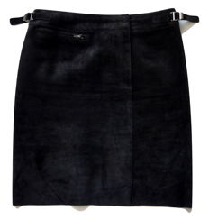 Gucci – suede – leather – skirt – short length