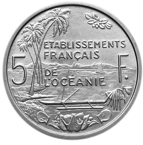 French Oceania (colony) - 5 Francs 1952 Essai Piefort - Aluminium