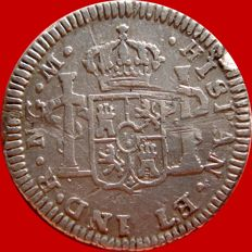 Spain - Carlos IV (1788-1808), 1/2 real in silver - 1789 - New Guatemala. M. Very rare.