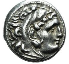 Greek Antiquity - Kings of Macedon Alexander III (336-323 BC). AR Drachm. 310-301 BC. Lampsakos mint.  (221)