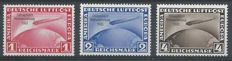 German Empire 1933 - Airmail Graf Zeppelin 'Chicagofahrt' - Michel 496/498