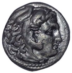 Greek Antiquity - Macedonia - Alexander III the Great (336-323 BC) - AR Drachm (16mm; 4,22g.) - Sardes mint, c. 323-319 BC - Head Herakles / Zeus - Price 1637 var.