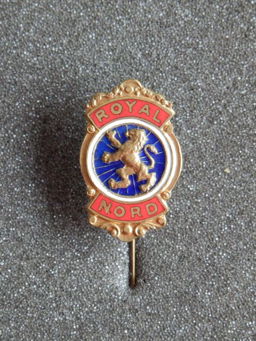 Beautiful original Badge Pin by Royal Nord - Brom en Moterfietsen