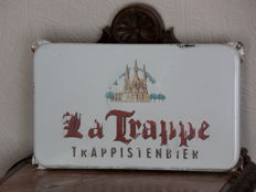 Original enamelled steel sign La Trappe Trappist beer Ca. 2nd half 20th century