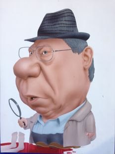 Retera, Mark - Original caricature of Piet Römer alias de Cock - Published in Panorama