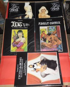 5x Italian volumes of erotic comics published by Glittering Images (1992-93)