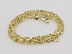 Necklace made of 18 kt gold. Length 51cm. No reserve price.