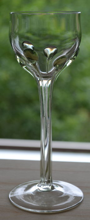 Rheinische Glassworks (presumably) - Jugendstil wine glass