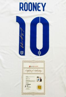 Wayne Rooney #10 / England - Signed Home Jersey -  with Certificate of Authenticity & Photo Proof