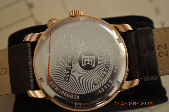 Edward East Of London - Edward East World Time Of London In Rose Gold - Edw1960g20 - Heren - 2011-heden