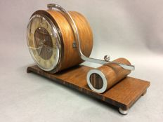 Art Deco wooden mantel clock with striking mechanism