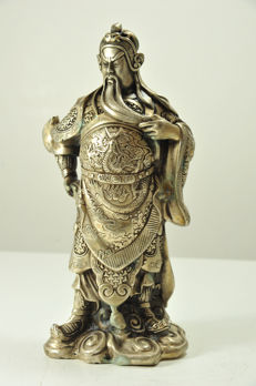 General Guan Yu  - silver plated - China -  20th century
