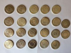 "France – 50 Francs 1974/1978 ""Hercule"" (lot of 22 coins) – Silver"