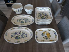 Large lot of Villeroy & Boch Phoenix blau blue - Pillivuyt