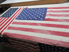 Stars & Stripes flags, 1 x large and 1 x hanging