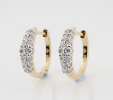 "14kt diamond earrings total approx. 0.51ct / 3.30gr / G-H  VS1-VS2 / measurements : 16 x 15 x 4 mm / "" NEW'"