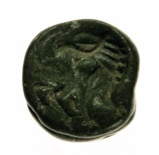 Stamp seal, griffin/lion, stone, Ø= 18.8mm.