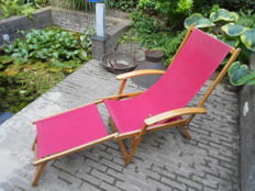 TORCK - vintage lounge chair with armrests and demountable footrest