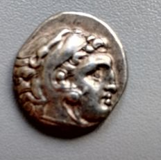Greek Antiquity - Kingdom of Macedon. Antigonos l, in style of Alexander III 'the Great' (336-323 BC). AR Drachm. Lampsakos, circa 310-301 BC.   (293)