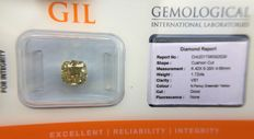 Diamond - 1.72 ct - Natural Fancy Greenish Yellow VS1 - No Reserve Price