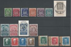 German Reich, 1924-1927, selection, Michel 344/350, 351/354, 403/406, 407/409