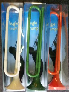 3x Bugle trumpet, for the fundamentals, good sound in white, green and orange