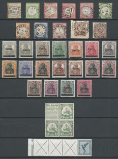 Germany 1872/1945 - selection of German Reich, colonies, Saar, French zone