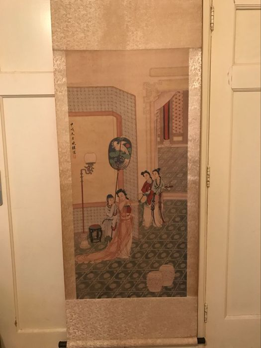 Print reproductin of old painting – China – late 20th century.