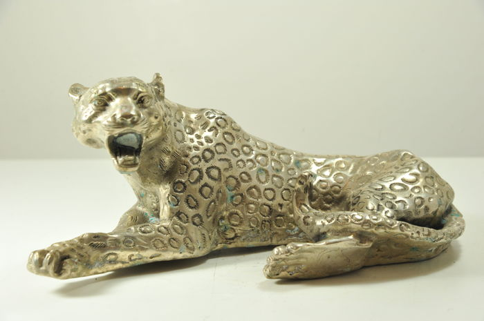 Silver-plated Bronze Panther