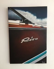 Riva oil on canvas painting