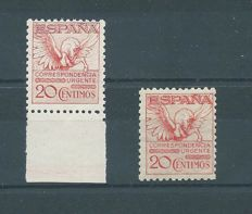 Spain 1931/1932 – Express Mail Pegasus – Edifil numbers 592A + 676, MNH