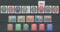 German Reich 1925/1934 – Selection – Michel 375/377, 430/434, 474/478, 548/553