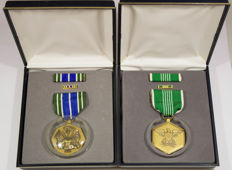 United States - 2 Bronze Medals - Military Achievement Medal and Military Merit