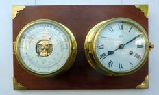 Schatz Royal Mariner set glass striking clock and barometer