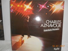 Charles Aznavour  ''lot of 15 albums  incl 1 double album ''  sung in french language
