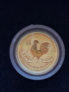 Australia – 5 Dollars 2017 'Year of the Rooster' – 1/20 oz Gold
