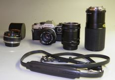 Olympus OM 10 with 1:8-50 mm-Tokina 1:4- 80-200 mm 1979/1987