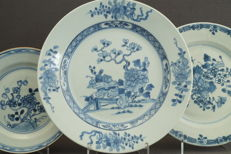 3 flat plates – China – Qianlong period (1735-1796)