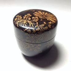 Lacquered matcha (green tea) tea caddy ('cha-ire') - Japan - Early 20th century