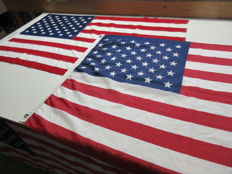 U.S.A. flag, 2 pieces.
