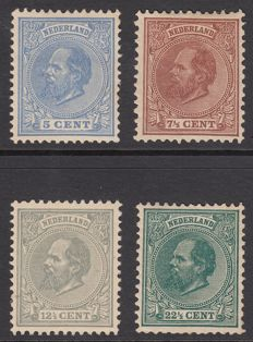 The Netherlands 1872 – King Willem III – NVPH 19, 20, 22 and 25