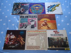 "A Very Nice Lot Of 7 ""West Coast"", Rock And Psychedelic Lp's: Grand Funk, Grateful Dead, Jefferson Airplane, Paul Kantner/Grace Slick, Santana, Steppenwolf + An Iconic Anthology With Unreleased Of E. Clapton & The Powerhouse, P. Butterfield etc."