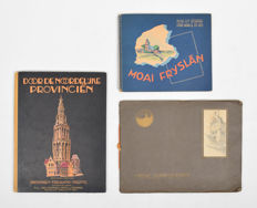 Lot with three picture albums concerning Friesland - 1928/1950