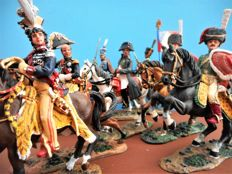 'Napoleon and his Staff' - 8 hand painted figures of DelPrado - scale 1:30