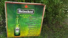 Great aluminum banner - HEINEKEN. Welcome, in 10 languages. HEINEKEN logo. HEINEKEN Advertisement .82,5 / 82,5 cm.