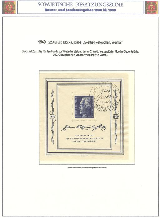 Soviet occupation zone and allied occupation 1946 - 1948 - collection with many letters in the Borek album