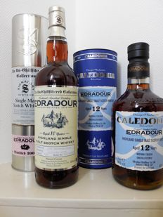2 bottles - Edradour Caledonia 12 years (bottled 2009) & Edradour 10 years The Un-chillfiltered collection 2004.